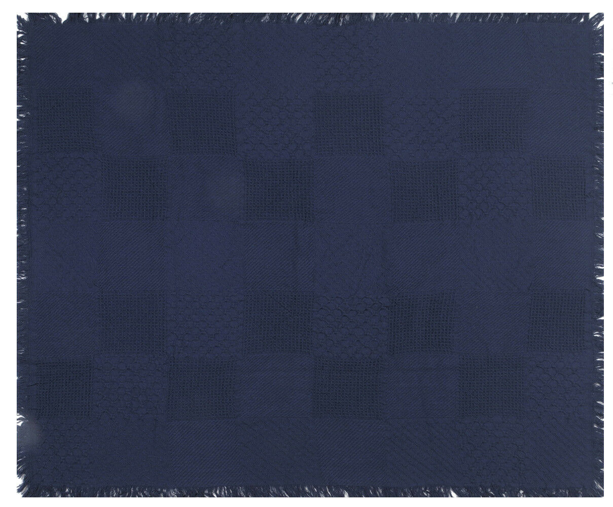 Squares In bluee Tapestry Throw