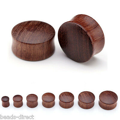 Sono Wood Saddle Double Flared Ear Flesh Tunnels Plugs Gauges Expander Stretcher