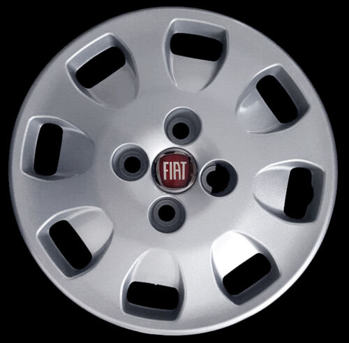 "Fiat Punto S SX 5 porte Kit 4 Copricerchi coppa ruota 13/"" logo rosso cod 1203LR"