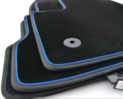 FORD KUGA II 2017 Premium velluto tappeto auto 4 pezzi Tappetini ornamentali nastro blu