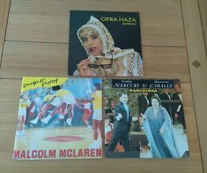 1980s-Pop-Job-Lot-3x-UK-7-034-Ofra-Haza-Malcolm-McLaren-Freddie-Mercury-Pic-Sleeves