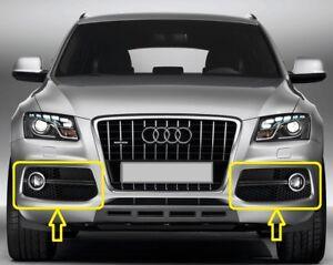 Genuine-Audi-Q5-2009-2012-S-LINE-PARACHOQUES-parrilla-de-luz-de-niebla-izquierda-derecha-par