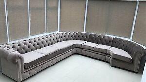 Image Is Loading Bespoke Handmade Chesterfield Velvet Corner Sofa Suite Avaliable