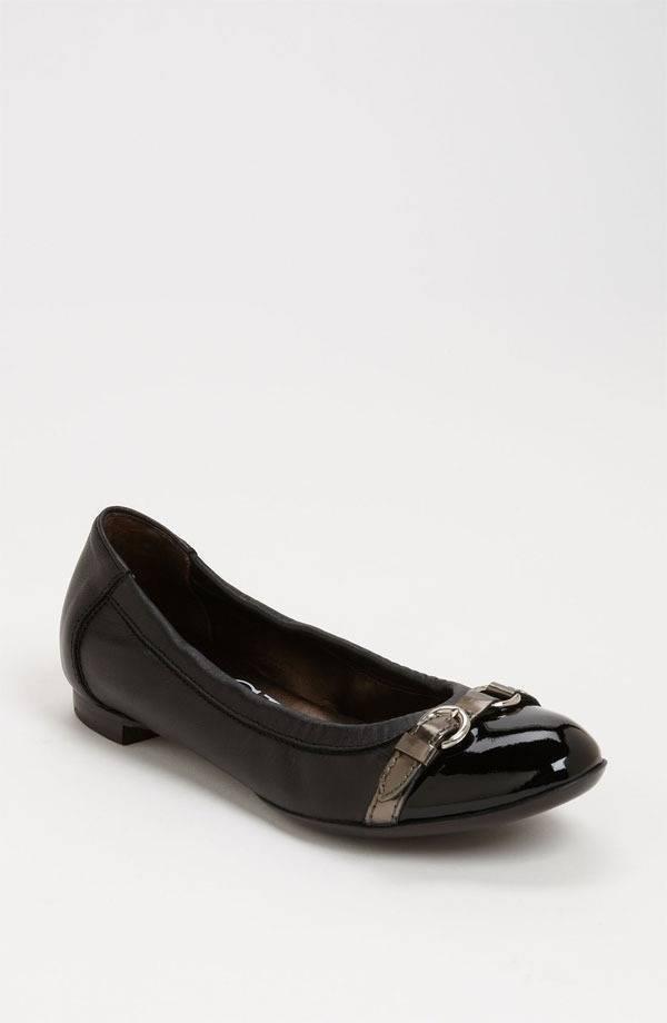 AGL Attilio Giusti Leombruni Ballet Flats Shoes Leather Black 40.5 10.5 $298