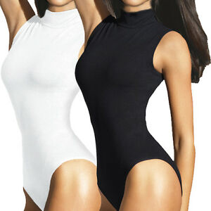 LADIES-SLEEVELESS-TURTLENECK-BODYSUIT-WOMENS-LEOTARD-TOPS-IN-UK-SIZES-8-16