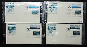 US-Cornwall-Canada-Set-of-4-Covers-Letters-FDC-USA-First-Day-H-8593