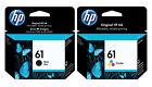 HP Genuine 61 Black + Color Set of 2 Ink Cartridges