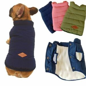 latest fashion most popular 100% genuine Details about Pet Winter Coat Warm Dog Jacket Puppy Pug French Bulldog  Costume Small Pet Cloth