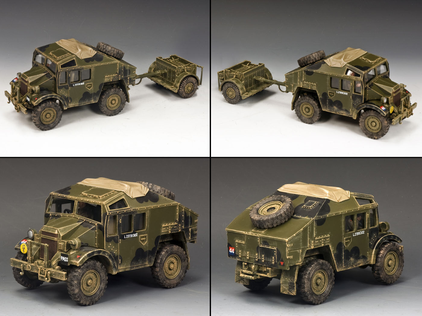 KING And Country Morris C8 Field Artillery Tractor & LIMBER D giorno WW2 dd202