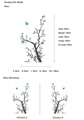 529 Autocollants muraux arbre oiseau famille fleur nurserie papillon kids wall art decals