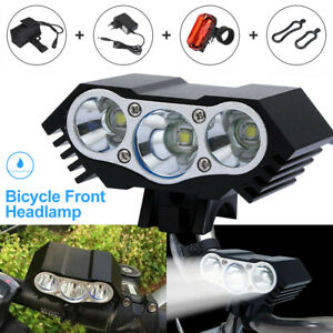 10000LM XML T6 X3 LED Mountainbike Frontlicht Solar Storm Fahrrad Scheinwerfer