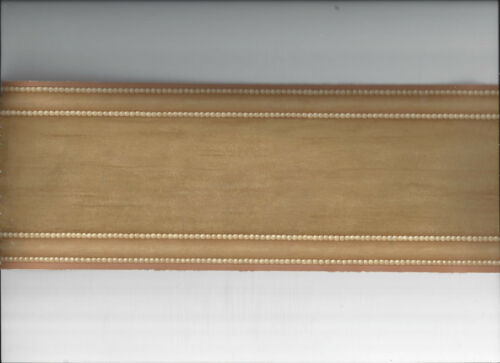 WALLPAPER BORDER WOOD PLANK LOOK MOULDING CHAIR RAIL NEW ARRIVAL BEADED LOOK