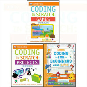 Details about Coding in Scratch Collection Games Projects Workbook  Beginners 3 Books Set NEW