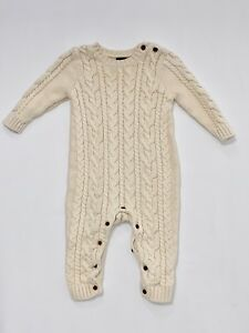 BABY GAP French Vanilla Cable Knit Cardigan Sweater Girl/'s Size 3-6 Months NWT