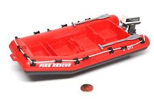 "Playmobil Fire Rescue Red Inflatable ""Rubber"" Life Raft Boat Motor Paddles 5721"