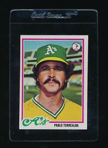 1978 Topps #78 Pablo Torrealba  signed autographed super tough A's