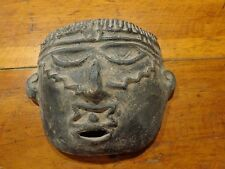 Mayan-like Aztec-like Tribal Mask Face Statue Sculpture Clay?