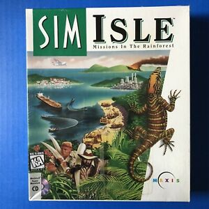 Sim Isle: Missions in the Rainforest (PC, 1995) Big Box Pc Game brand New sealed