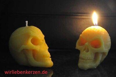 Ehrgeizig Totenkopf Kerze 100% Bienenwachs Triball Bienenwachskerzen Gothik Skull Fabriken Und Minen