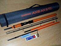 Shimano Axis Ax S.t.c Travel Concept Fishing Rod Fuji Guide Alps Metal Reel Seat