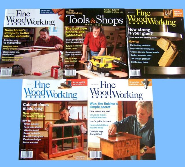 Taunton's Fine Woodworking, 5 Back Issues, Adirondack ...