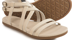 NEW TEVA STRAPPY SANDALS WOMENS 9 AVALINA CredVER LEATHER WHITE FREE SHIP