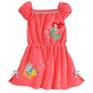 772ca7a3de Details about Disney Store Princess The Little Mermaid Ariel Girl Swimsuit  Cover Up 7/8 9/10