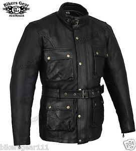 new bellstaff style cafe racer vintage look wax leather motorcycle