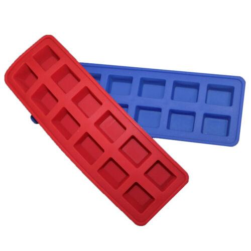 Cubo de Hielo Bandeja de Silicona de 12 ranuras Pop fuera Flexible moldeables verano Maker congelar
