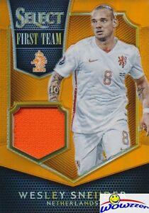 2015 Panini Select Wesley Sneijder #100/149 JERSEY ORANGE PRIZM MINT Netherlands
