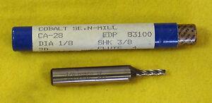 "Fastcut 1//8/"" 4 Flute SE Cobalt  Endmill  End Mill #83100 CA-28 CA28 Made in USA"