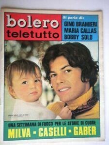 Bolero-1156-Verley-Milva-Caselli-Gaber-Bramieri-Callas-Hallyday-Solo-Pagano