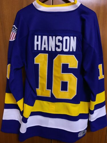 Mad Brothers Jack Hanson Charlestown Chiefs #16 Slap Shot Hockey Jersey 2 Colors