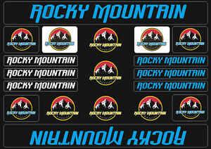 INTENSE Mountain Bicycle Frame Decal Stickers Graphic Adhesive Set Vinyl Blue