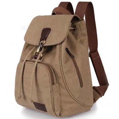 Women  Canvas Backpack School Book Bag Men Travel Shoulder Bag Rucksack Satchel
