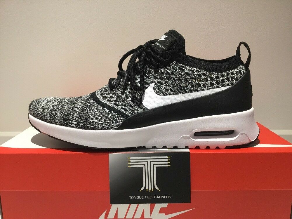 "Nike Air Max Thea  Ultra Flyknit  ""Oreo""  Thea 881175 001  Uk Größe 7  Euro 41 bdd3be"