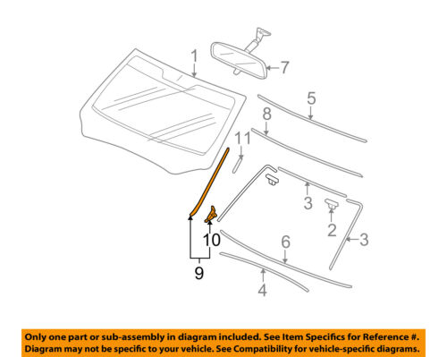 HONDA OEM Pilot Windshield-Pillar Side Molding Trim Surround Right 73152SZAA01ZA