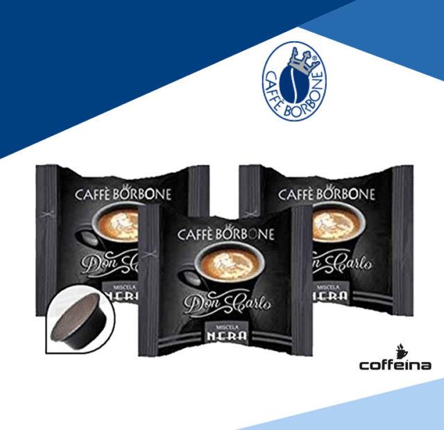 OFFERTA 100 capsule caffè Borbone Don Carlo nera Compatibili a modo mio COFFEINA