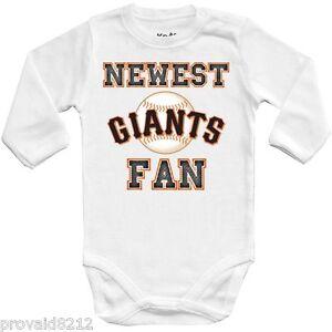 b7d156e94 Image is loading Baby-bodysuit-Newest-fan-San-Francisco-Giants-MLB-