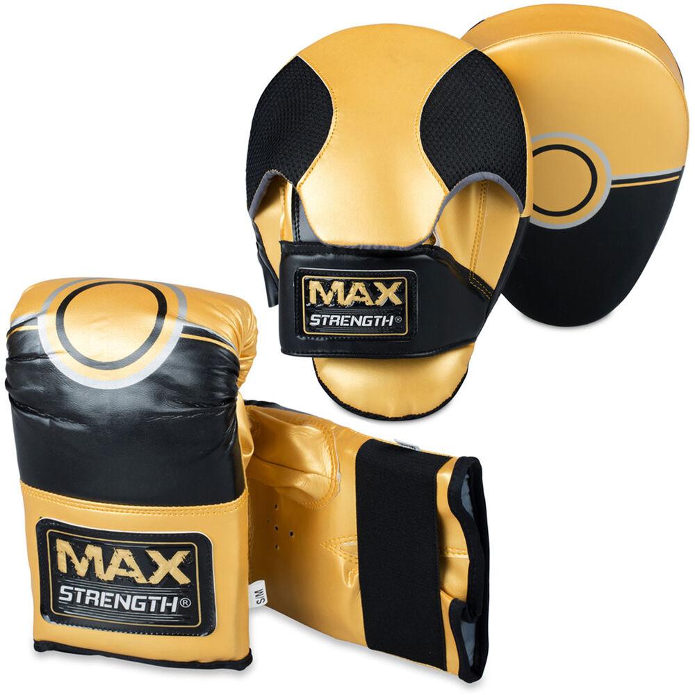 Uomini scatolae Curvo Focus Pads Set Punch Sparring borsa hook Jab tuttienauominito Guantoni MMA