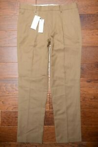 Lacoste HH4706 $180 Men Slim Fit Heavy Cotton/Linen Pleated Chino Pants 40 EU 50