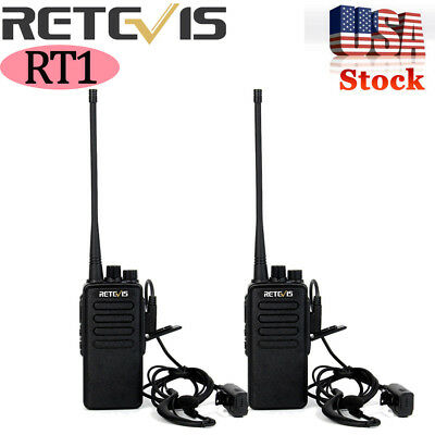 2X Retevis RT1 Walkie Talkies UHF 10W 3000mAh CTCSS//DCS FRS//GMRS 2-Way Radio US
