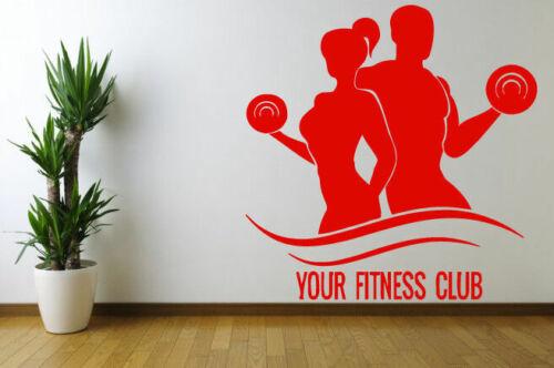 Applique Murale Chambre Autocollant Chambre Fitness Sport Crossfit Gym Entraînement Corps bo2946