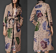 BURBERRY PRORSUM Hand Painted Wearable Art Leather Trench Coat IT38/US4 $10,000