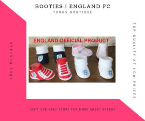 Official Boys and Girls England FC International Booties New Born Boot Boots