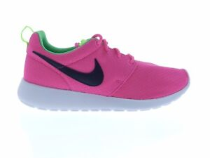 1682508b6a42 Nike Girl s Rosherun Size 7Y Pink Green Black Roshe Running Shoes ...