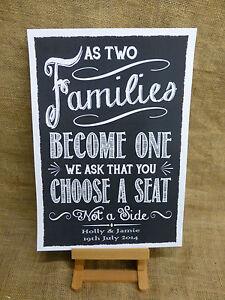Vintage Heart Chalkboard Style Wedding Sweet Table Metal Plaque Sign