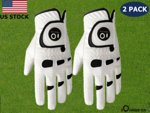 Golf-Gloves-With-Ball-Marker-Mens-2-Pack-Left-Right-Handed-Golfer-S-M-L-XL-US