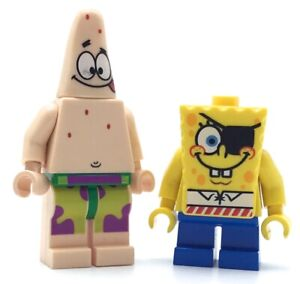 LEGO-LOT-OF-2-SPONGEBOB-SQUAREPANTS-MINIFIGURES-PATRICK-STAR-FIGURES