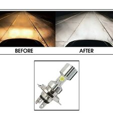 Silver Missile Hi Low Beam H4 Bike Bulb Motorcycle Scooty LED Headlight Bulb